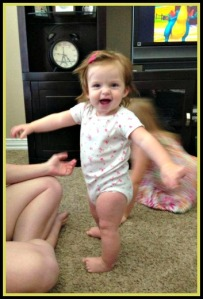 This is Lauren. She's about to be 1 year. She's spunky, and loves Mickey Mouse Clubhouse. <3
