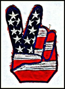 peace 01 american flag handsign