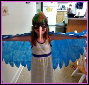 This is Sam. She is 6, and loves art. This came costume came from an art project we did. <3